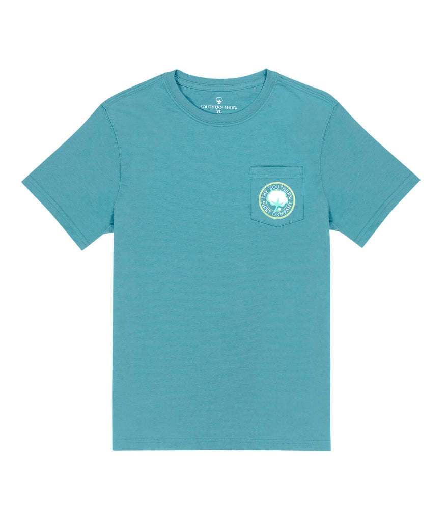 Southern Shirt Company Youth Patrolled Waters Shirt- Blue Moon