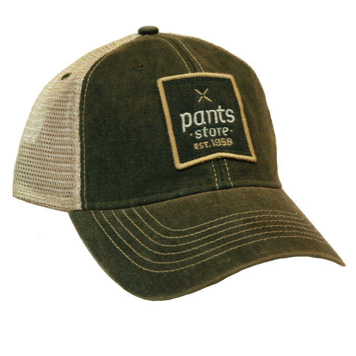 Pants Store Vintage Trucker Hat- Green