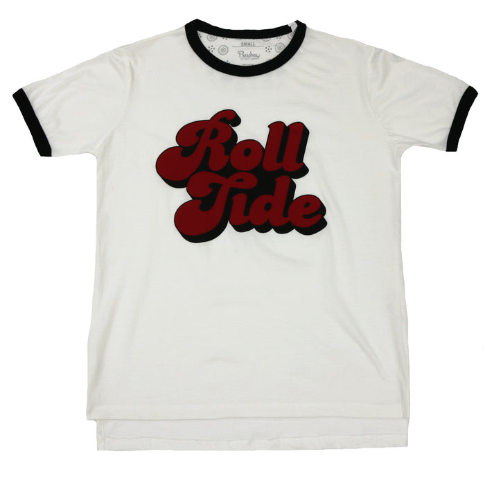 Roll Tide Tee- White/Black- UAL61103ANE- WHT/BLK