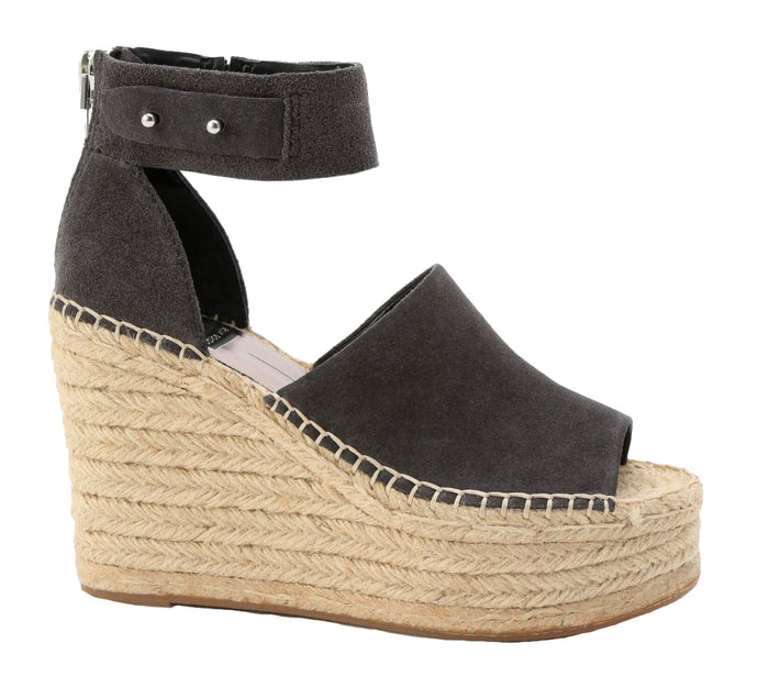 Dolce Vita Straw Wedge- Anthracite
