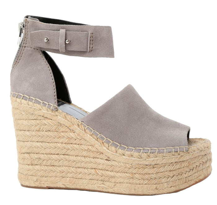 Dolce Vita Straw Wedge - Smoke