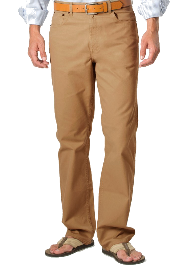 Coastal Cotton Twill 5 Pocket Pant- Sand