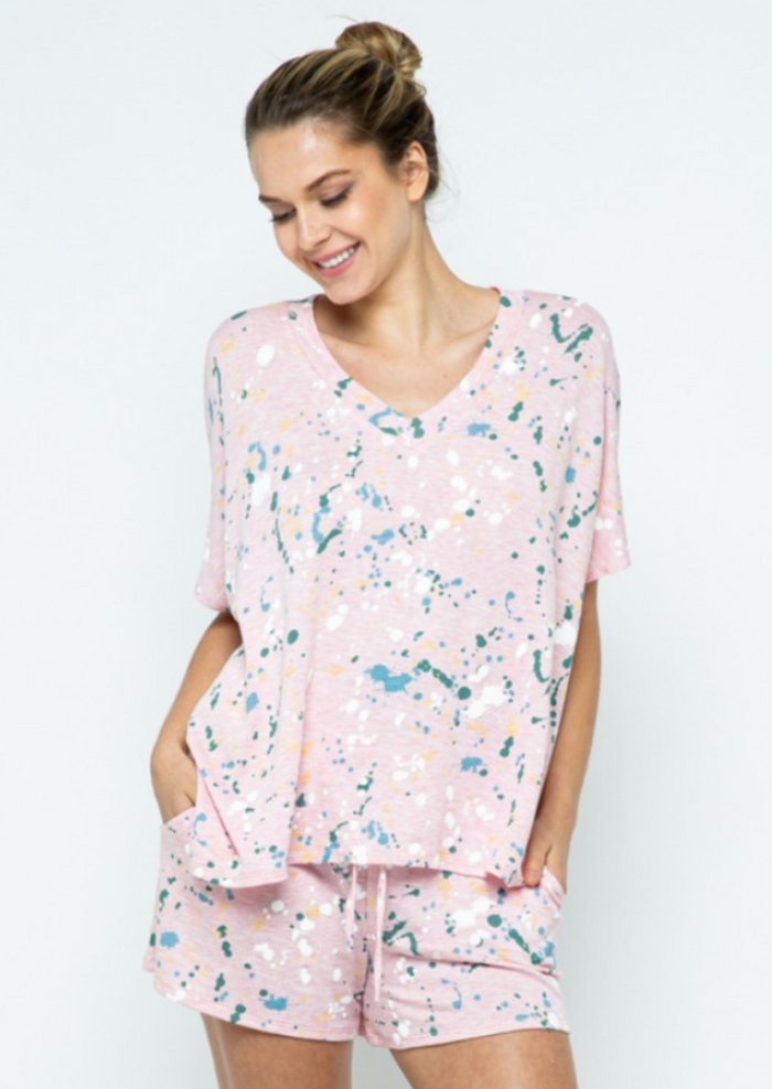 Lexy Paint Splatter Top