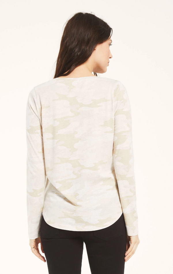 Z Supply Kinney Camo Long Sleeve Tee