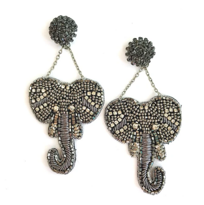 Elephant Beaded Earrings