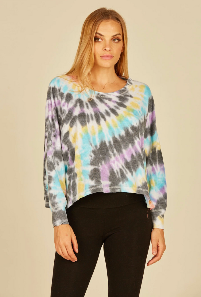 Vintage Havana Multi Swirl Tie Dye Long Sleeve Top