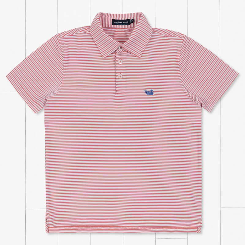 Southern Marsh Youth Sumter Stripe Bermuda Performance Polo
