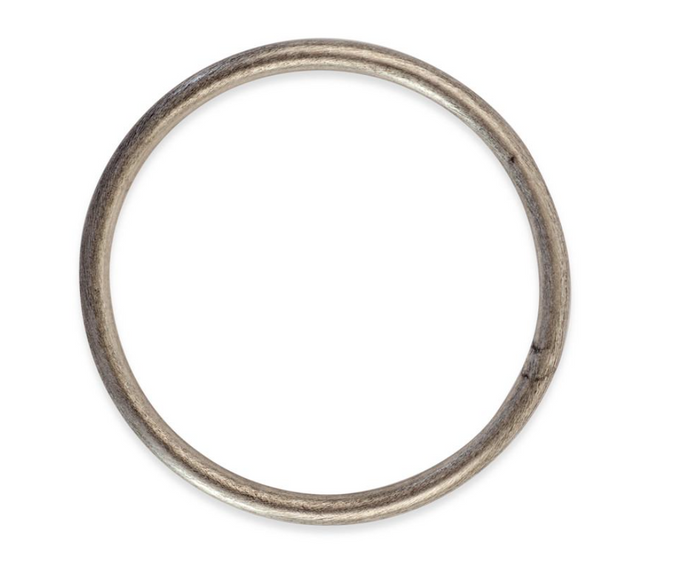 Sheila Fajl Round Bangle- Brushed Silver