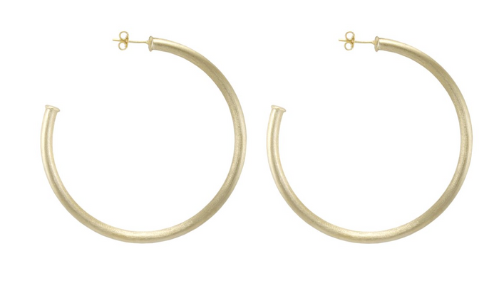 Sheila Fajl Everybody's Favorite Hoop Earrings- Brushed Gold