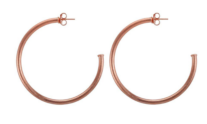 Sheila Fajl Everybody's Favorite Hoop Earrings- Brushed Rosegold