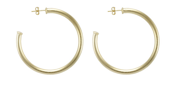 Sheila Fajl Small Everybody's Favorite Hoop Earrings- Brushed Gold