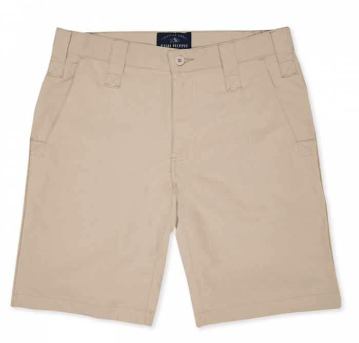 "Fish Hippie Migration 9"" Short- Tan"