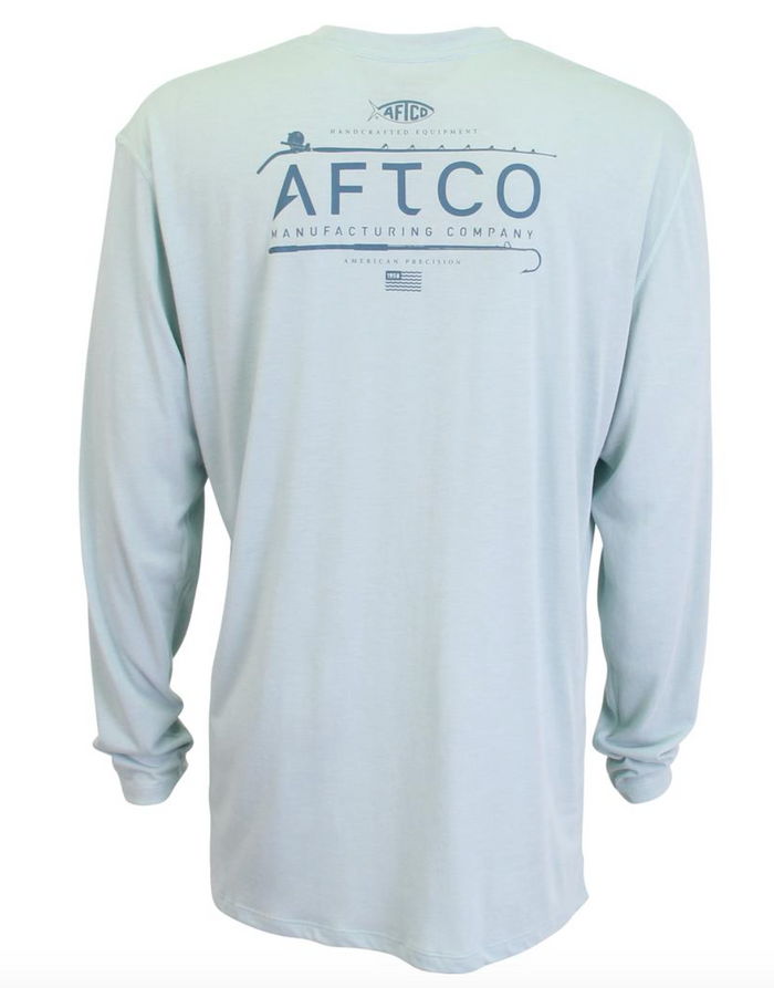 AFTCO Fishtale L/S Kottinu Performance Shirt- Moonstone