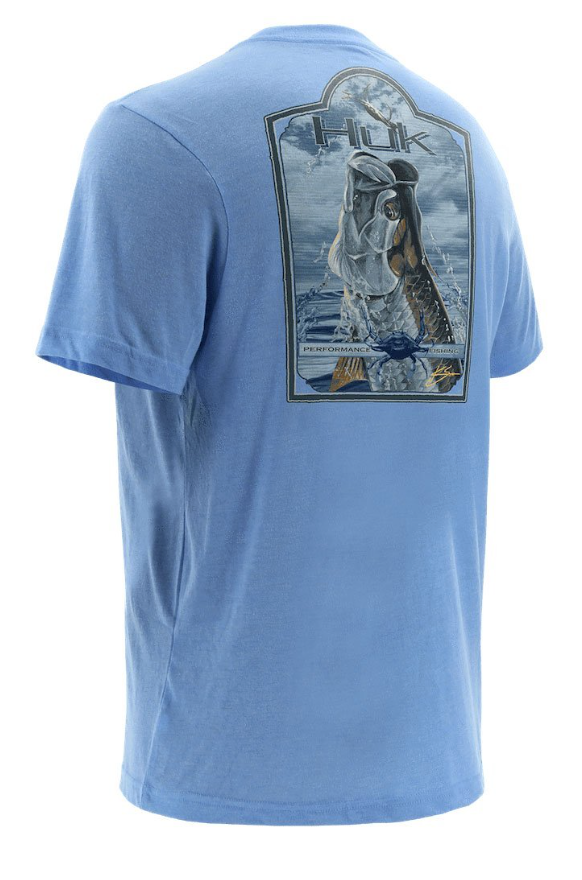 Huk KC Scott Tarpon Blues Tee- 425