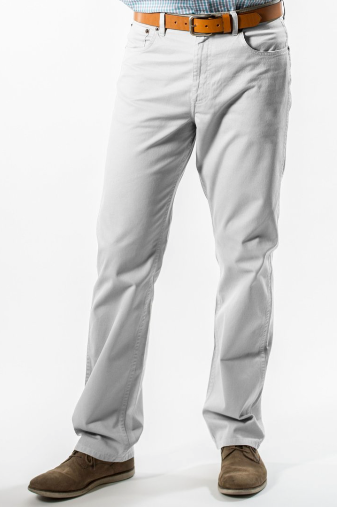 Coastal Cotton Twill 5 Pocket Pant- Stone