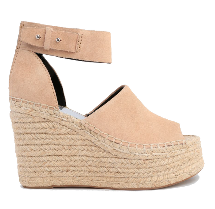 Dolce Vita Straw Wedge- Blush