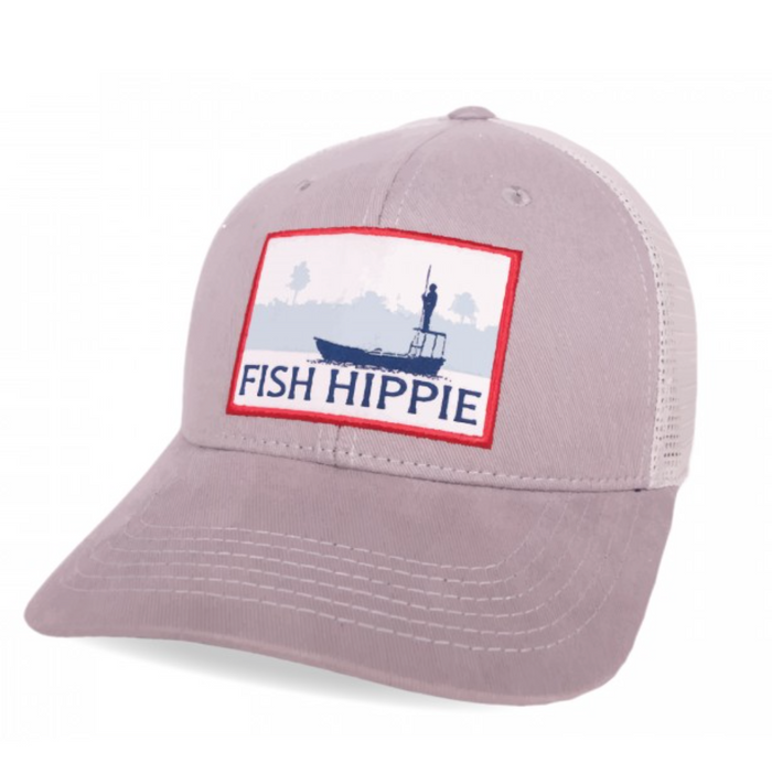 Fish Hippie Flats Dream Trucker Hat- Bone