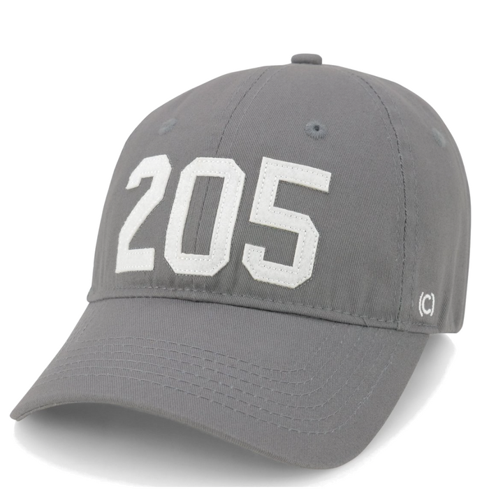 Area Code 205 BHM Hat - 205-BHM-GRY