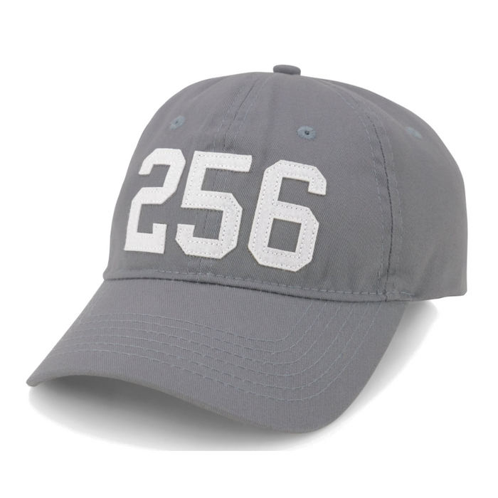 Area Code 256 Rocket City Hat - 256-ROCKET CITY-GRY