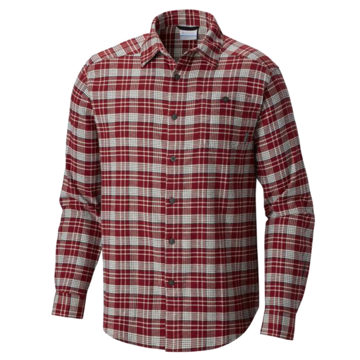 Columbia Cornell Wood's Flannel Long Sleeve - CORNELL WOODS-RED