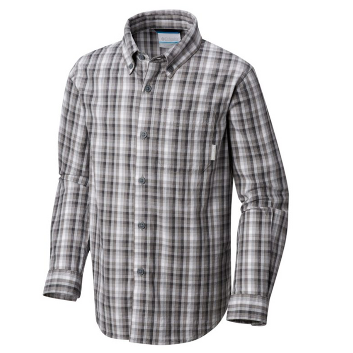 Columbia Rapid River Button Down- 028 - RAPID RIVERS L/S YTH-GRI