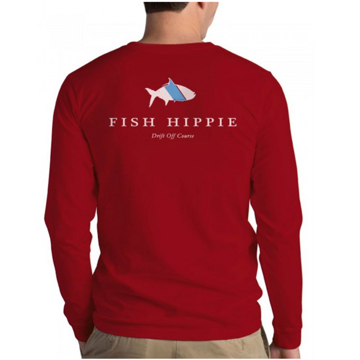 Fish Hippie Original Tarpon L/S Tee - FH-LST410-RED