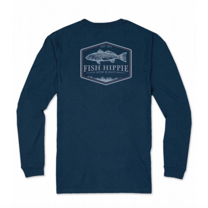 Fish Hippie Back Bay L/S Tee - FH-LST2070-11-NVY