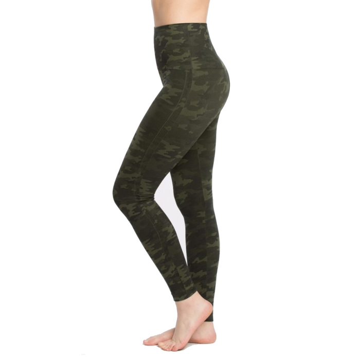 Spanx Look At Me Now Camo Leggings- Green Camo- FL3515-GRN.CAM