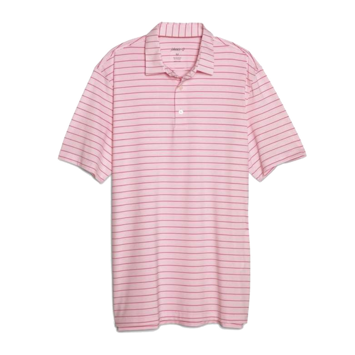 Johnnie-O Kiawah Striped Prep-formance Polo- Pink - JMPO2210-PNK