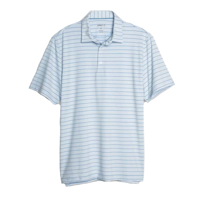 Johnnie-O Kiawah Striped Prep-formance Polo- Gulf Blue - JMPO2210-GUL