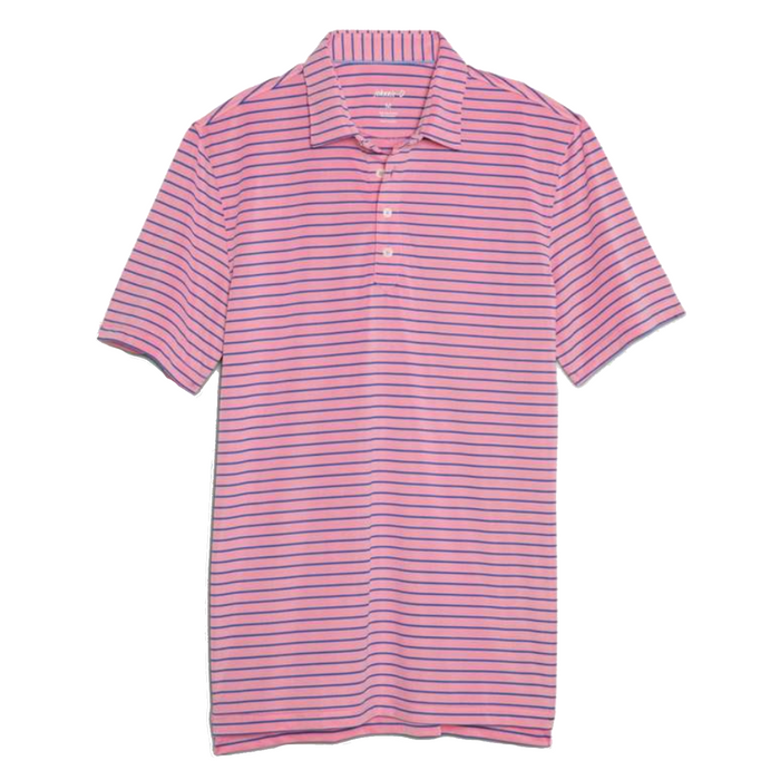 Johnnie-O Cay Striped Prep-Formance Pique Polo- Primrose   - JMPO2250-PRIM