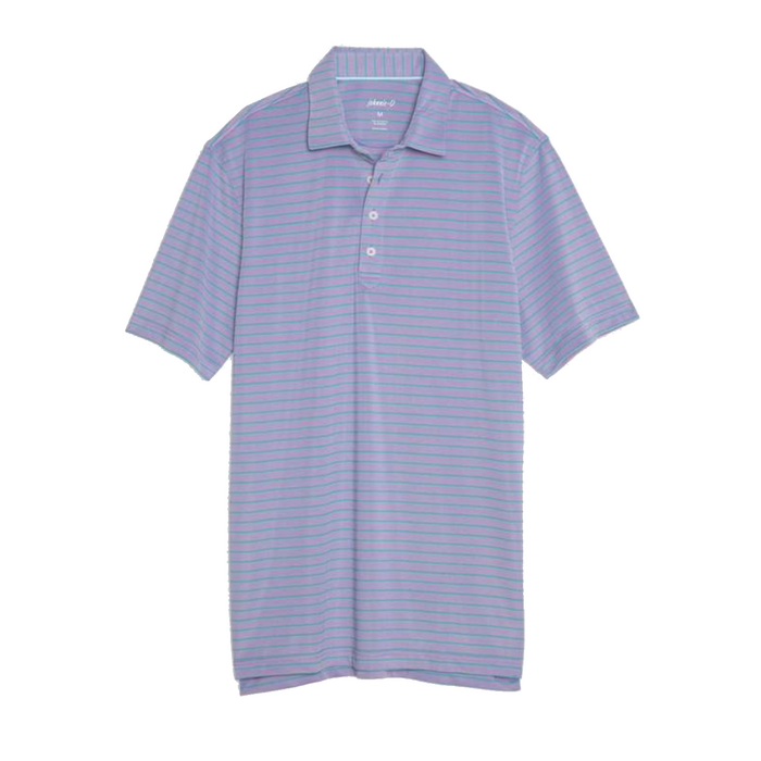 Johnnie-O Cay Striped Prep-Formance Pique Polo- Prince  - JMPO2250-PRI