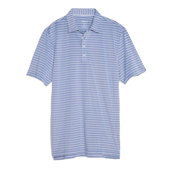 Johnnie-O Cay Striped Prep-Formance Pique Polo- Marlin - JMPO2250-MAR