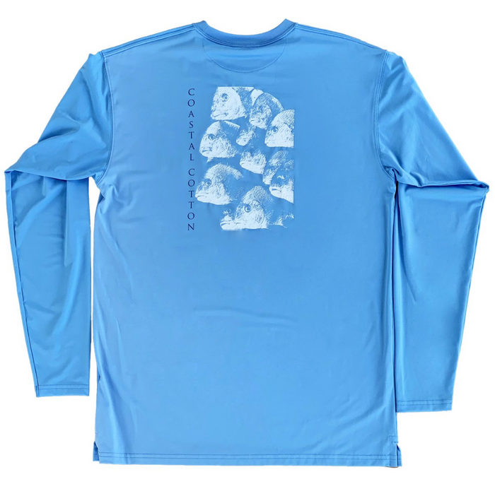 Youth Coastal Cotton L/S Performance Shirt- Marina School - LS-PT-MA-YTH