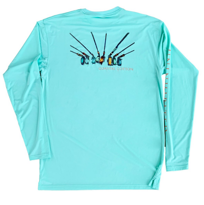 Youth Coastal Cotton L/S Performance Shirt- Aruba Reels - LS-PT-AR-YTH