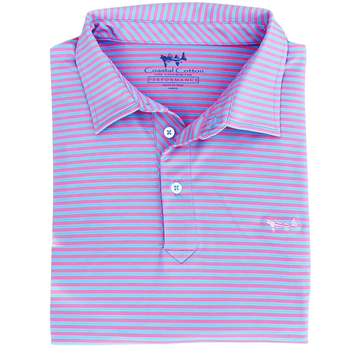 Coastal Cotton Performance Polo- Shell Blue - PPX-SB