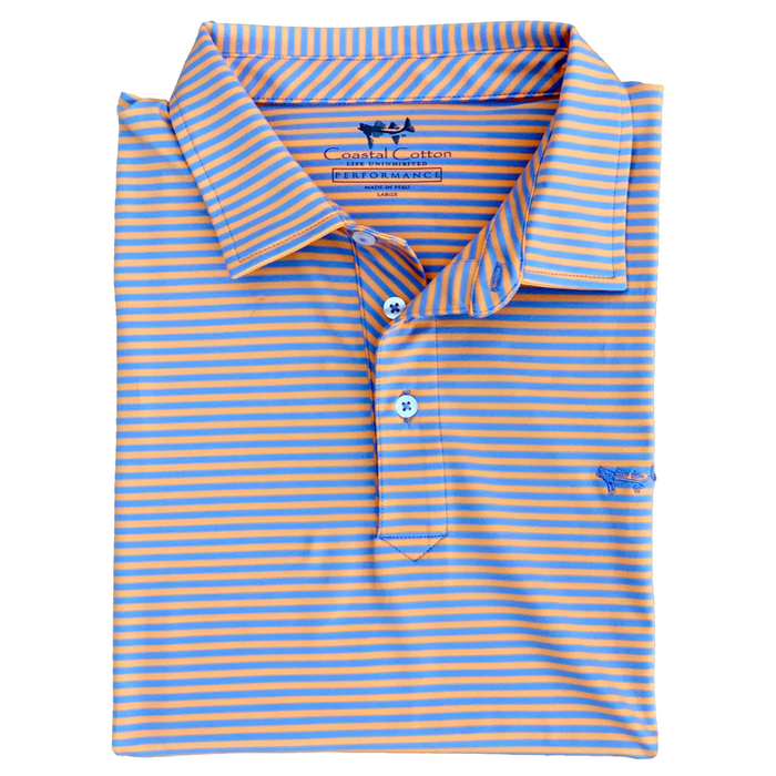 Coastal Cotton Performance Polo- Mango - PPX-MG