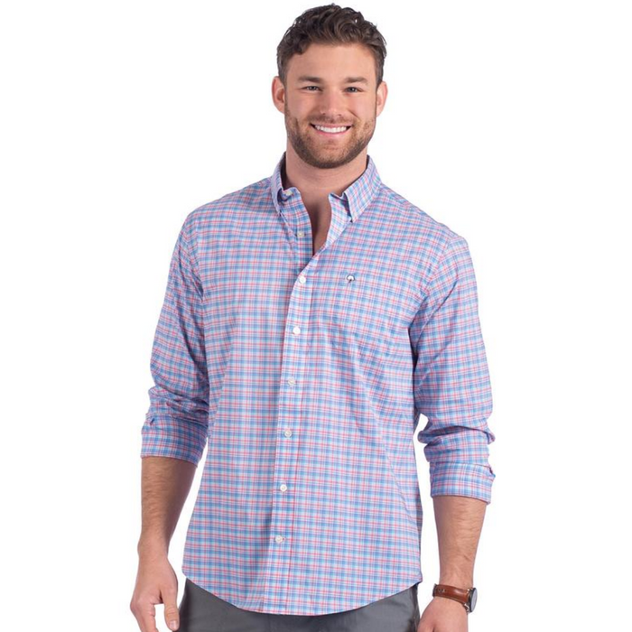 The Southern Shirt Company Low Country Plaid Button Down- Sweet Water - LOW COUNTRY PLAID-SWE