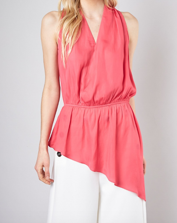 Anything But Perfect Top- Hot Pink  - Y17157-HOT