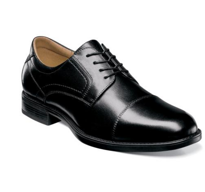 Florshiem Midtown Cap Toe Oxford- 12138-001- Black