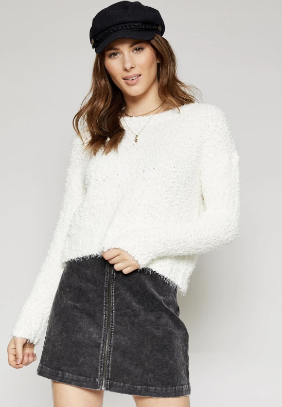 Warm And Fuzzy Feeling Sweater- Ivory- AA342831-IVY