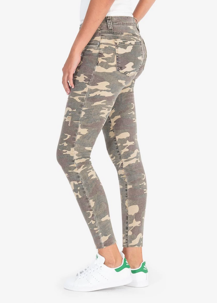 KUT Connie Ankle Skinny- Olive Camo- KP0504MC2-OLV