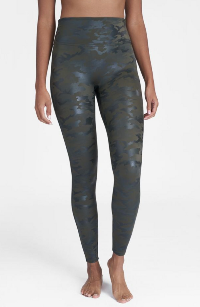 Spanx Faux Leather Camo Legging- Matte Green Camo- 20185R-MTCGM