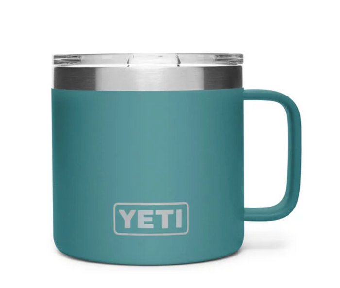 Yeti Rambler 14oz Mug- River Green