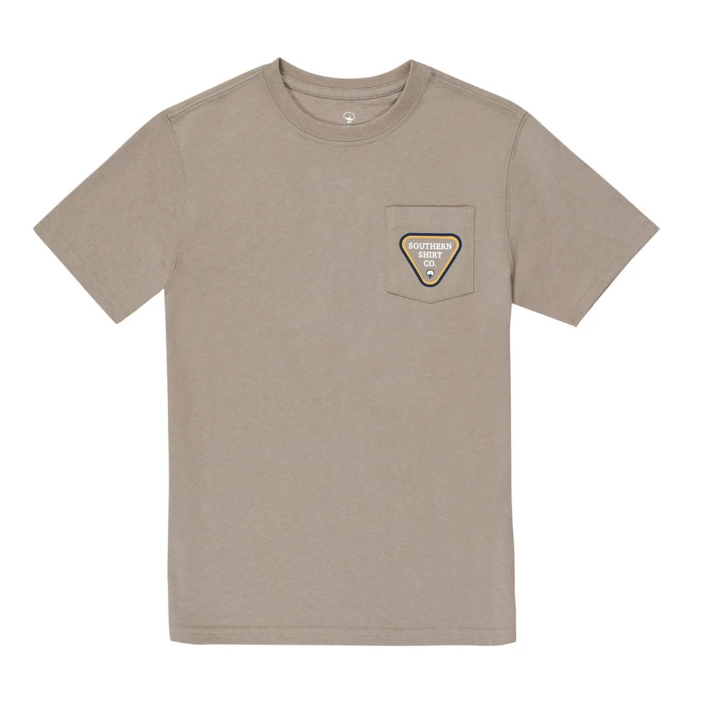 Southern Shirt Company Boys Trout Badge S/S Tee- Rhino- TROUT BADGE S/S YOUTH-RHI