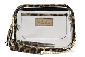 K'lear Stadium Box Purse- Leopard- K'LEAR STADIUM BOX-LEO