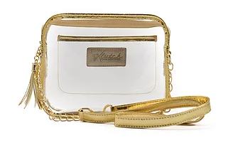 K'lear Stadium Box Purse- Gold- K'LEAR STADIUM BOX-GLD