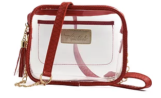 K'lear Stadium Box Purse- Red- K'LEAR STADIUM BOX-RED