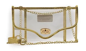 K'lear Stadium Envelope Purse- Gold-  K'LEAR STADIUM ENVELOPE-GLD