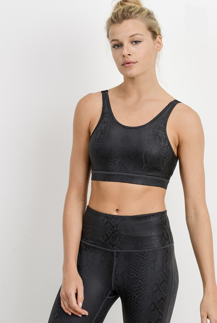 Slither My Way Sports Bra- AT2598